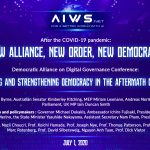 Democratic Alliance on Digital Governance Conference – Protecting and Strengthening Democracy in the Aftermath of COVID-19