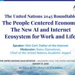 Father of the Internet Vint Cerf talks at UN Roundtable 2045