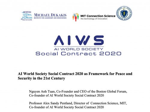AI WORLD SOCIETY SOCIAL CONTRACT 2020 AS FRAMEWORK FOR PEACE AND SECURITY IN THE 21ST CENTURY