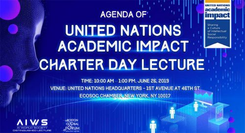 LIVE SCHEDULE UNITED NATIONS ACADEMIC IMPACT CHARTER DAY LECTURE