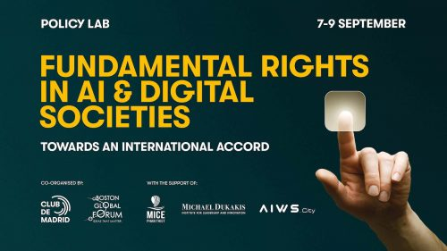 Global Forum on Fundamental Rights in AI & Digital Societies Highlights Central Role of United Nations Centennial Initiative