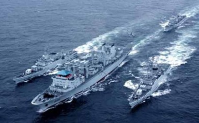 Chinese navy vessels