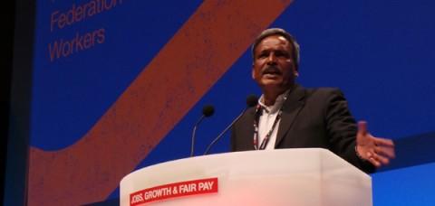 Amirul Haque Amin addresses the TUC in September 2013